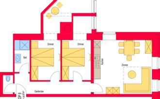 Insieme Obertauern - Grundriss Appartement Il Monte